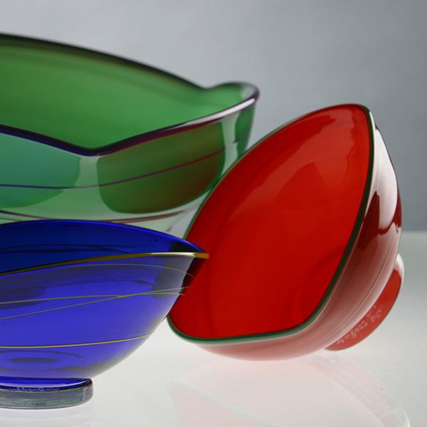 Bols triangle - L'atelier du verre à soi (c) F. Golfier