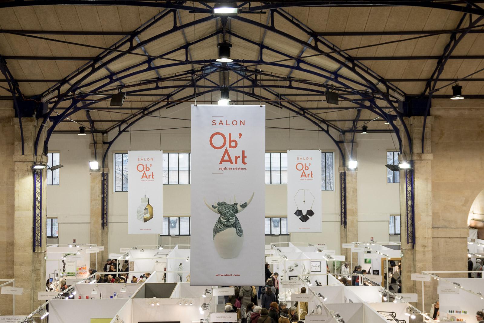 LE SALON DES METIERS D'ART OB'ART PARIS INVESTIT L'ESPACE DES BLANCS MANTEAUX POUR SA 21EME EDITION